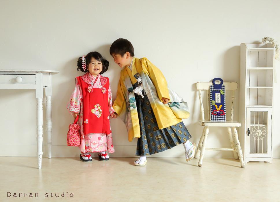 山口県下関市で七五三写真と貸衣装は住吉神社さんから車で約10分の写真館だんらんスタジオへ