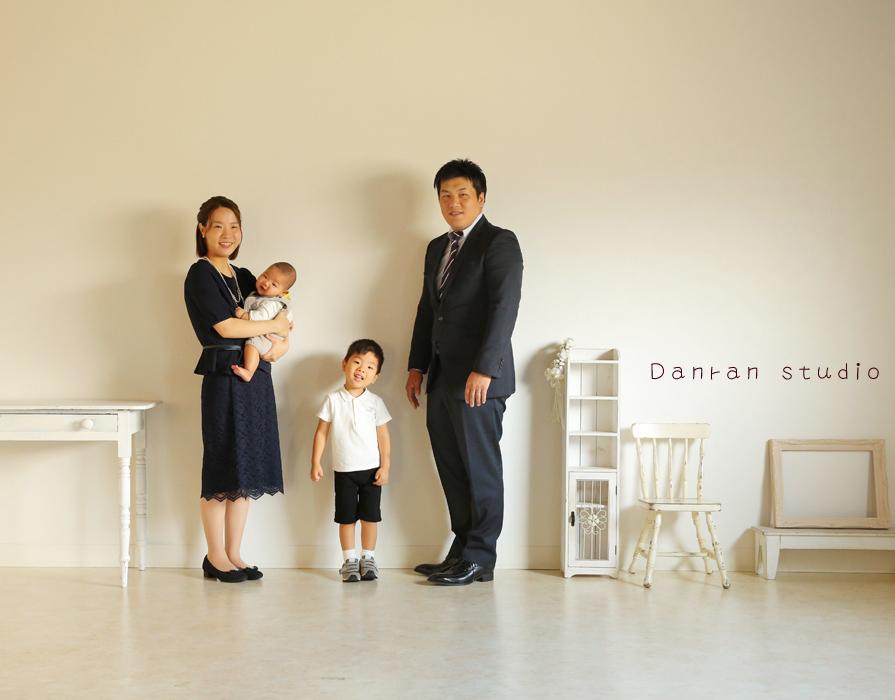 山口県下関市でお宮参りや753、家族写真ならだんらんスタジオ(新下関駅より車で約10分)