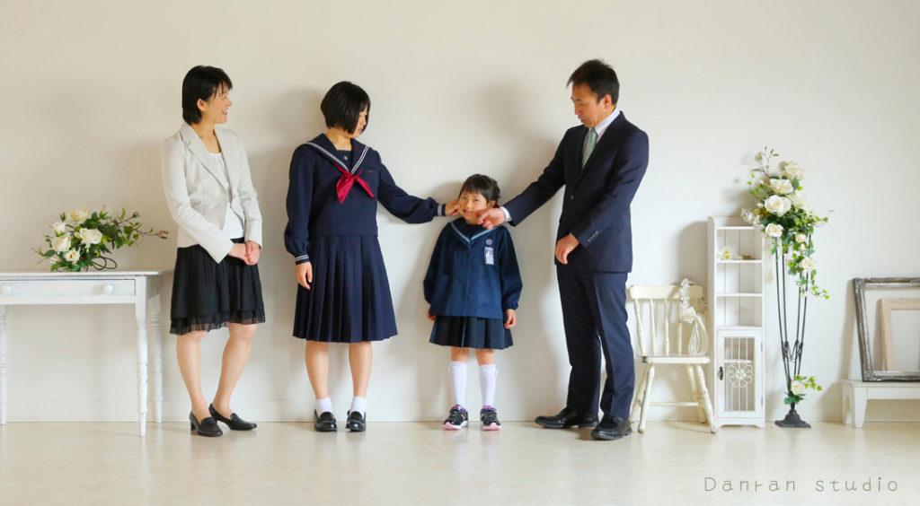 山口県下関市の写真館入園式や入学式で、ご家族の写真を残しましょう