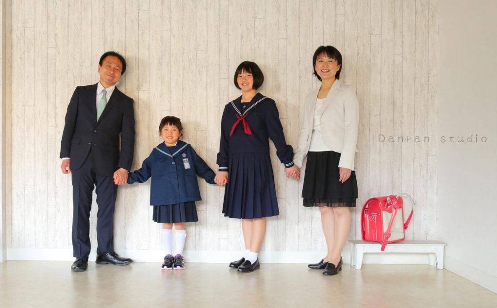 山口県下関市の写真館 入園式や入学式で、ご家族の写真を残しましょう