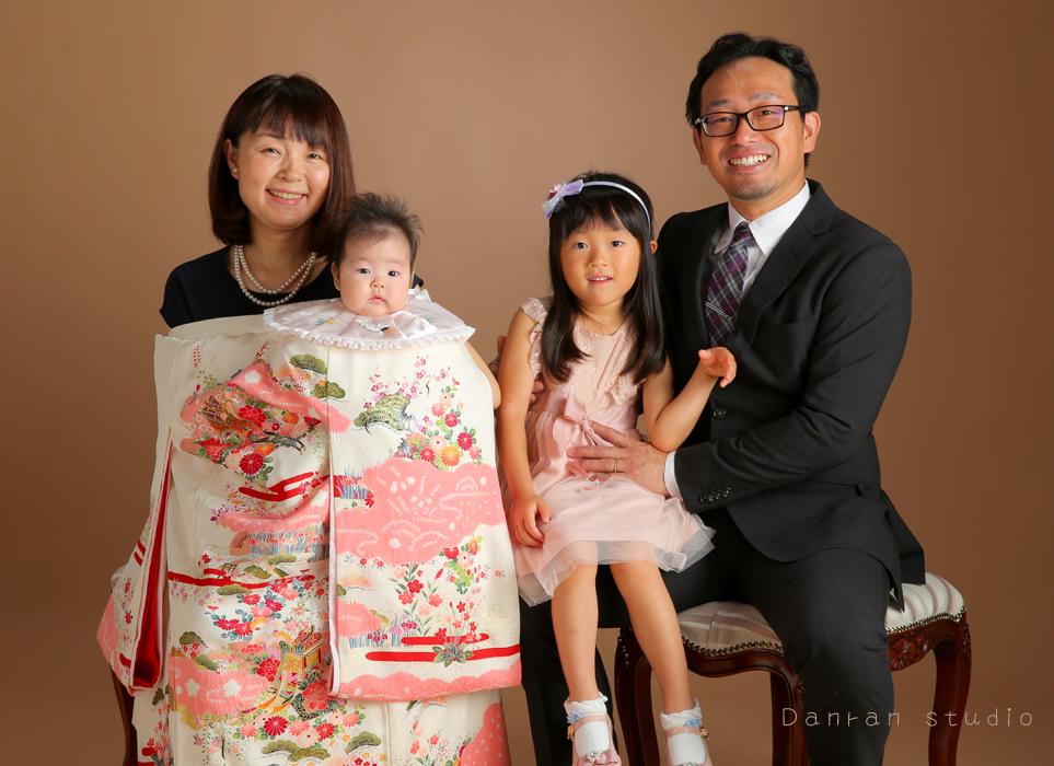 山口県下関市のお宮参り・百日祝いなどの記念には家族写真を残しましょう
