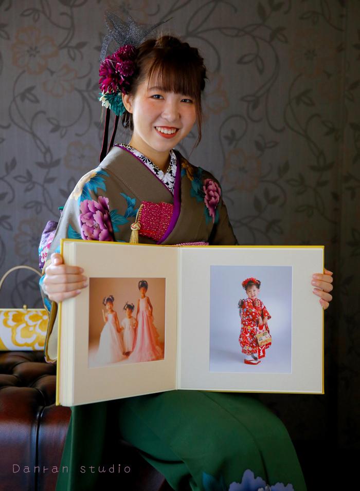 下関市の成人式の記念写真